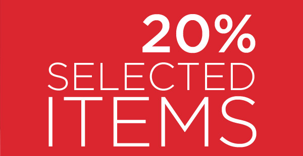-20% SELECTED ITEMS