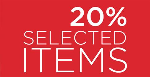 Selected Items -20% korting