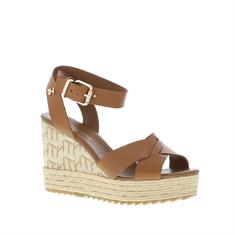 Tommy Hilfiger TH Raffia High Wedge Sandaal